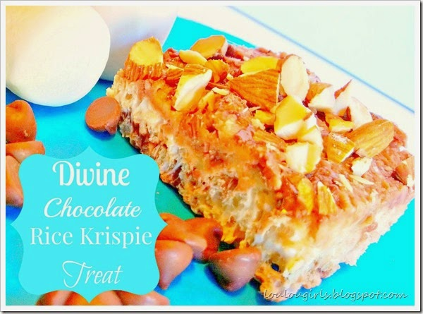 divine chocolate rice krispie treat