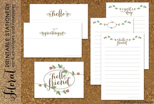stationary printable