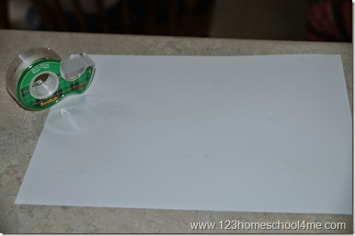use tape to make the outline of a Chrsitmas picture