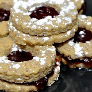 Cranberry Earl Grey Linzer Torte Cookies