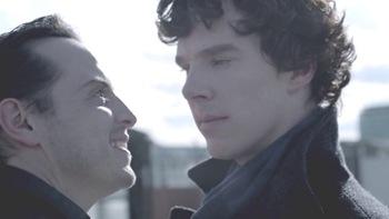 Sherlock et Moriarty dans la série TV Sherlock Holmes