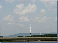 8504 I-565 (Alt. US-72), Alabama - first view of US Space and Rocket Center - Huntsville, Alabama