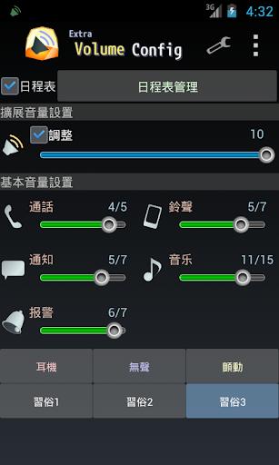 ExtraVolumeConfig 音量微调