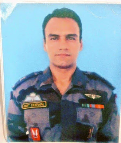 RIP Major Amit Deswal 21 Para SF who was martyred yesterday in