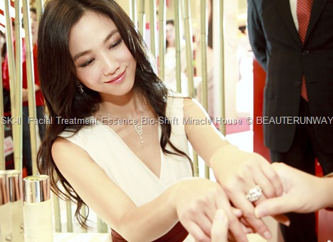 Tang Wei SK-II Facial Treatment Essence Bio Shift Miracle House at Tangs