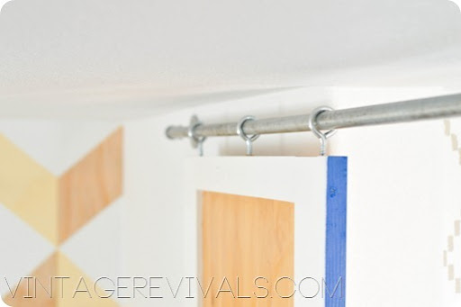 Sliding Barn Door DIY Pipe