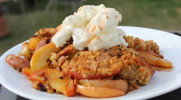 camping dessert apple crisp