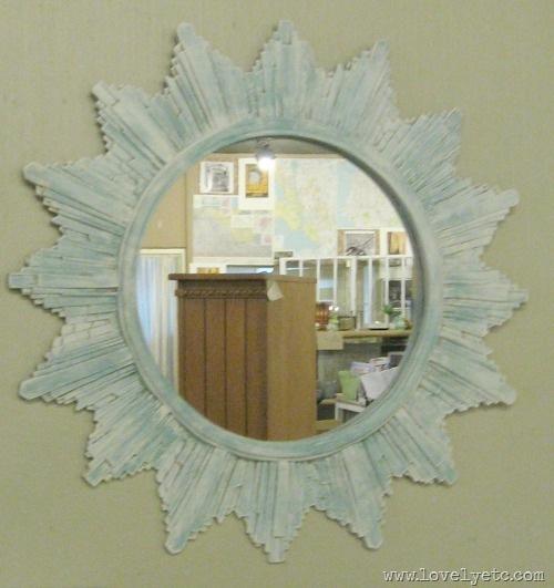 painted sunburst mirror 2