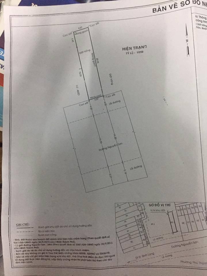 Bán nhà nát Mặt Tiền đường Nguyễn Sơn Phú Thọ Hòa, Tân Phú 04