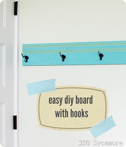 easy diy board with hooks