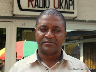 Médard Mbuyal Mangala, journalite (Rtnc). Radio Okapi/Ph. John Bompengo