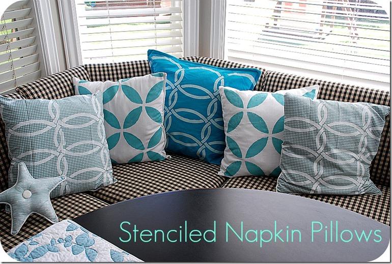 stenciled napkin pillows header