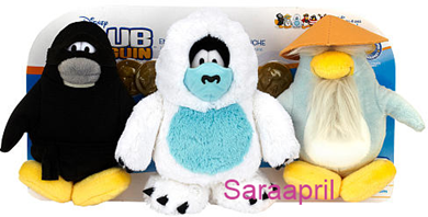 Club Penguin Plush 3-Pack Ninja, Yeti, and Sensei :)