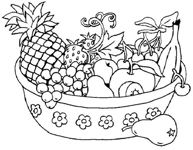 Fruteros Dibujos Para Colorear