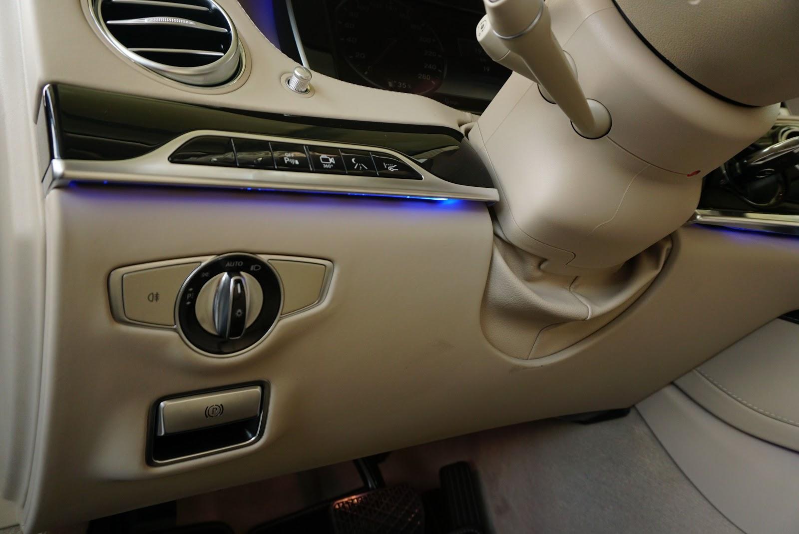 Nội Thất Xe Mercedes Benz S600 MAYBACH Màu Đen 08