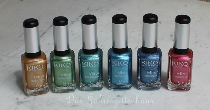 Mirror Metallic KIKO 628 Gold 626 Lawn Green 625 Emerald 624 Sky Blue 623 Blue 619 Red Peony