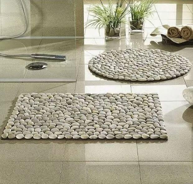 id es fait main comment faire un tapis en galets. Black Bedroom Furniture Sets. Home Design Ideas