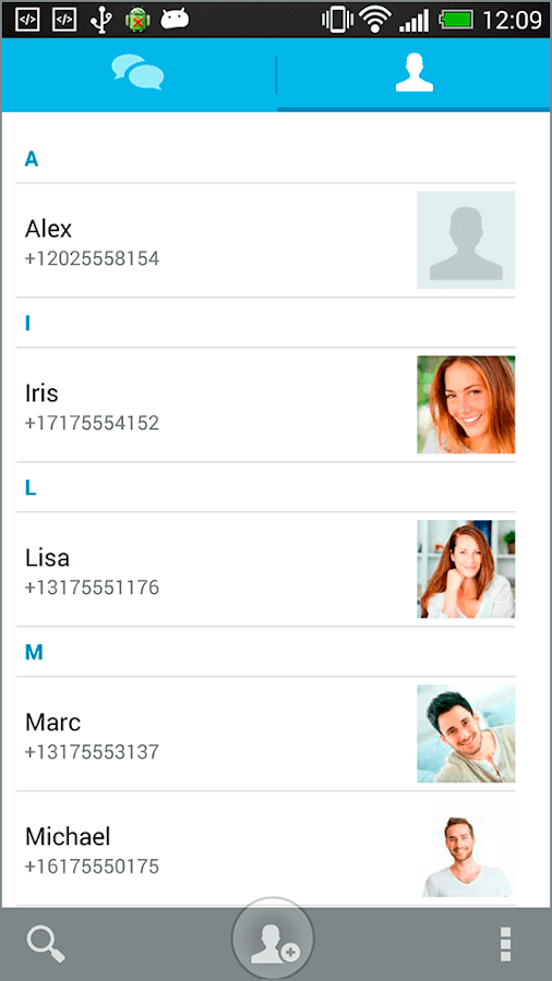 SQURE messenger - screenshot
