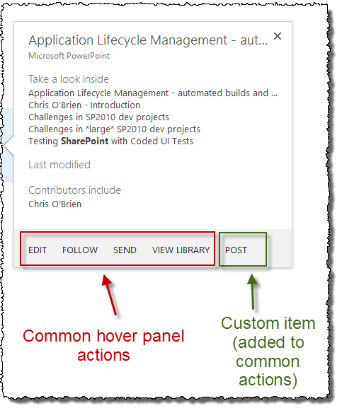 Hover Panel actions - with guide - edges