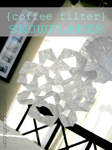 coffee filter snowflakes tutorial