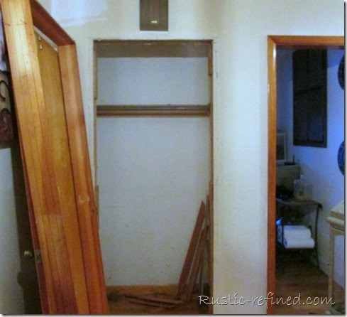 Demoing a closet to make a wider entry into the kitchen