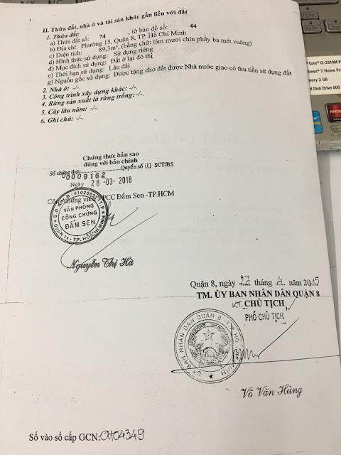 Bán nhà mặt tiền số 238 Lưu Hữu Phước, Phường 15, Quận 8, Tp Hồ Chí Minh 02
