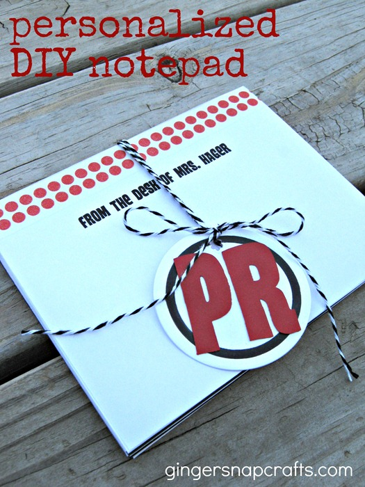 personalized diy notepad teacher gift