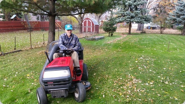 Dad loves his Lawn Tractor