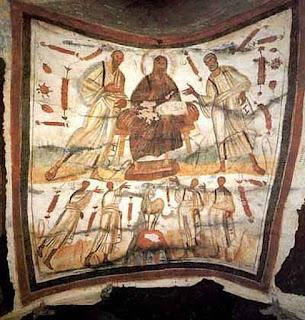 Bức Đức Kitô ở giữa thánh Phêrô và thánh Phaolô, thế kỷ IV