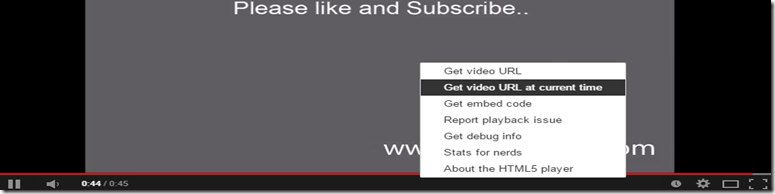 Youtube get video url at current time