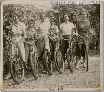 Rosemary's Bicycling group in 1938