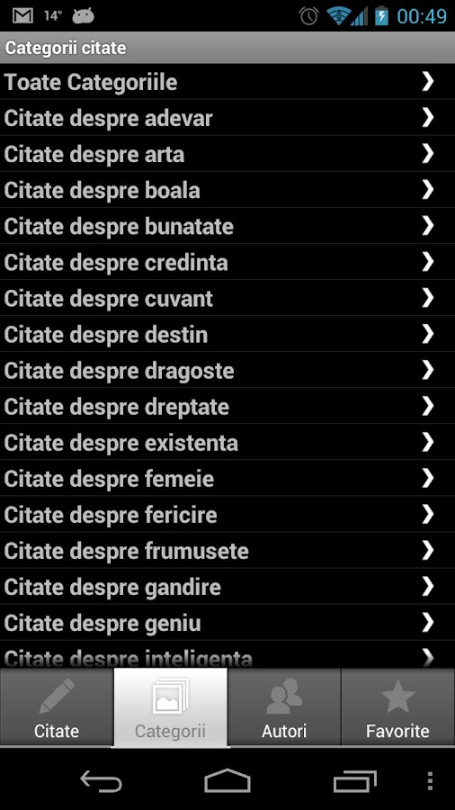 Citate Celebre- screenshot