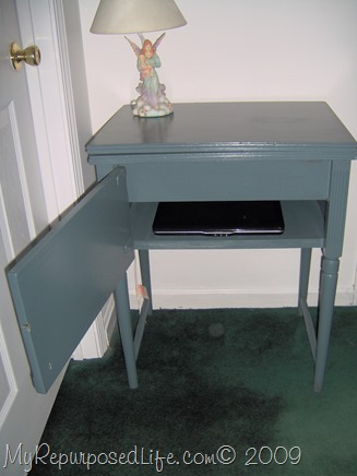 sewing cabinet repurposed