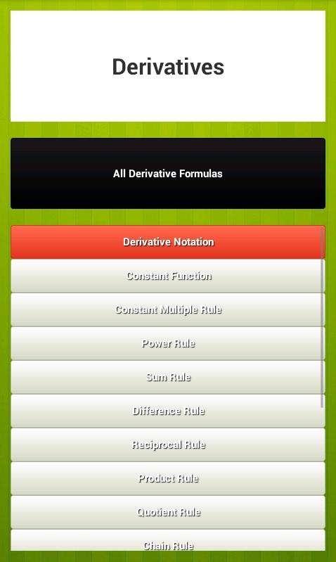 Free Calculus Formulas Android Apps On Google Play