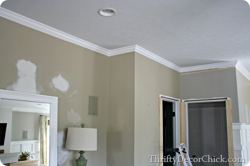 My First Plan Of Action Yesterday Was To Finish Up Extending The Crown Molding This Is A Little Trick I Use Make