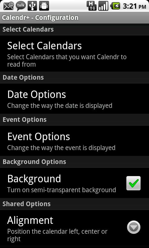 Calendr+- screenshot