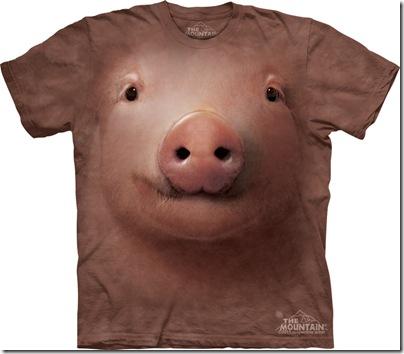 tricou cu fata de porc
