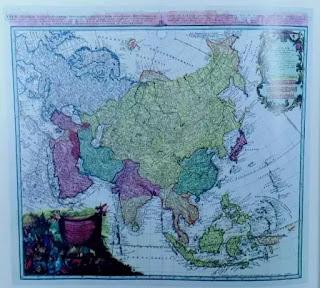 Bản đồ Châu Á (Carte de l'Asia) do Homann Herrs vẽ năm 1744.