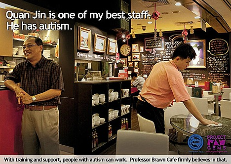 STARBUCKS COFFEE FREE FOR PROJECT RAW GEMS AUTISM AWARNESS FACEBOOK Autism Resource Centre Singapore raise awareness employment