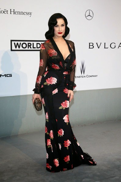 Dita von Teese Arrivals Cinema Against AIDS Gala