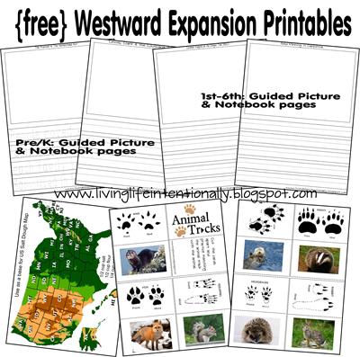 Westward Expansion free worksheets for elementary age children