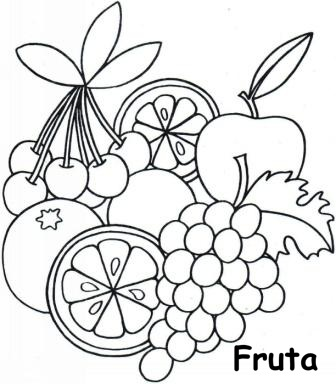 Dibujos De Fruta Para Pintar