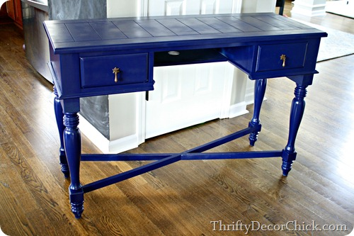 navy blue desk
