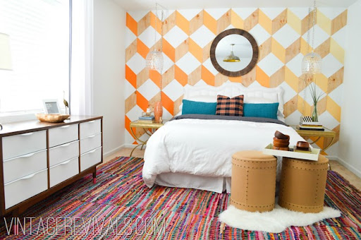 Colorful Woven Rug Vintagerevivals.com