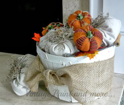 Drop cloth pumpkins