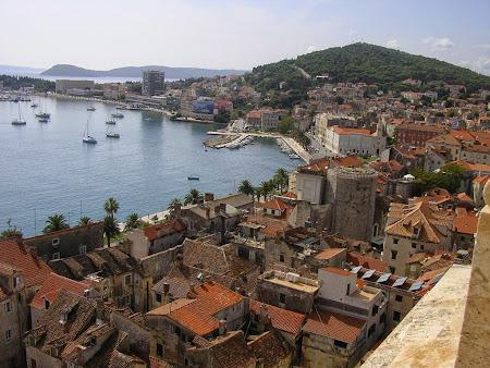 Obective turistice Split: din turnul clopotnitei