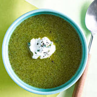 Cream of Broccoli and Spinach Soup.
