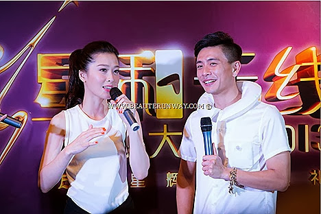 Starhub TVB Awards 2013 Bosco Wong Niki Chow My Favourite TVB On Screen Couple award Winner A Change of Heart Favourite TVB Actor, My Favourite TVB Male TV Character Singapore Marina Bay Sands