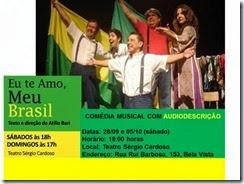 Eu te amo meu Brasil - cartaz da peça