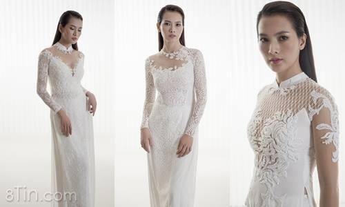 Áo dài cưới thanh lịch mà tinh xảo, tôn vinh vẻ đẹp